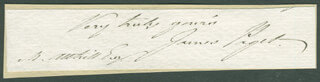 SIR JAMES PAGET - CLIPPED SIGNATURE