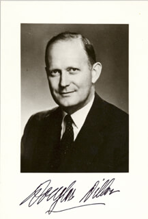 Autographs: C. DOUGLAS DILLON - PHOTOGRAPH SIGNED