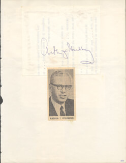 ASSOCIATE JUSTICE ARTHUR J. GOLDBERG - AUTOGRAPH CO-SIGNED BY: WALTER P. MCCONAUGHY, HAL LAYCOE