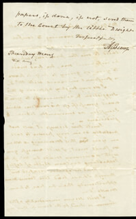 VICE PRESIDENT AARON BURR - AUTOGRAPH LETTER SIGNED 8/20