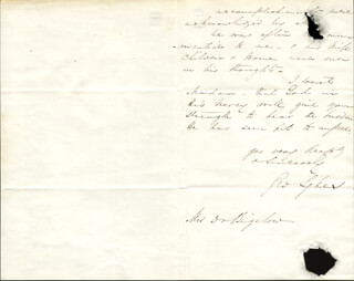 MAJOR GENERAL GEORGE SYKES - AUTOGRAPH LETTER SIGNED 12/10/1862