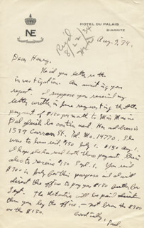 J. PAUL GETTY - AUTOGRAPH LETTER SIGNED 08/09/1934