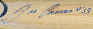 JOSE CANSECO - BASEBALL BAT SIGNED