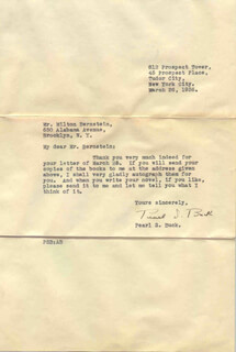 PEARL S. BUCK - TYPED LETTER SIGNED 03/26/1936