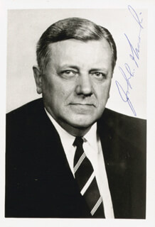 JOHN A. GRONOUSKI - AUTOGRAPHED SIGNED PHOTOGRAPH