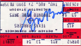 Autographs: PRESIDENT GEORGE W. BUSH - TICKET SIGNED CIRCA 1990