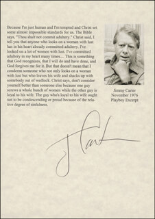 Autographs: PRESIDENT JAMES E. JIMMY CARTER - TYPESCRIPT SIGNED CIRCA 1976