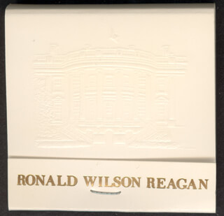 PRESIDENT RONALD REAGAN - MATCH BOOK UNSIGNED