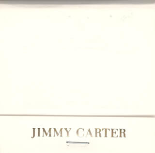 PRESIDENT JAMES E. JIMMY CARTER - MATCH BOOK UNSIGNED