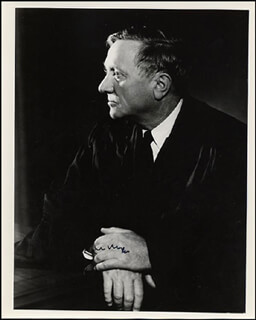 ASSOCIATE JUSTICE WILLIAM O. DOUGLAS - AUTOGRAPHED SIGNED PHOTOGRAPH