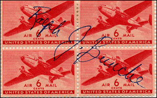 RALPH J. BUNCHE - STAMP(S) SIGNED