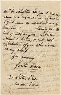 ROSITA FORBES - AUTOGRAPH LETTER SIGNED 04/24/1924