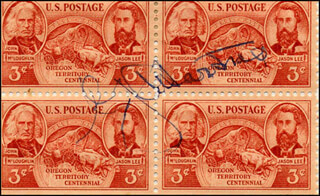 GENERAL GEORGE C. MARSHALL - STAMP(S) SIGNED CIRCA 1948