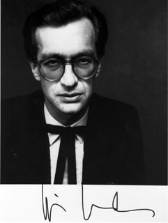 WIM WENDERS - AUTOGRAPHED SIGNED PHOTOGRAPH