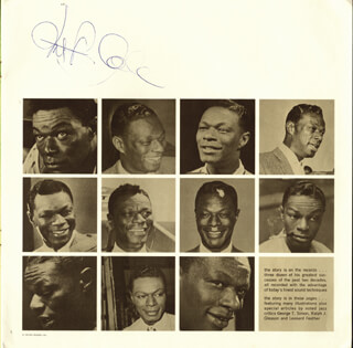 NAT KING COLE - BIOGRAPHY SIGNED