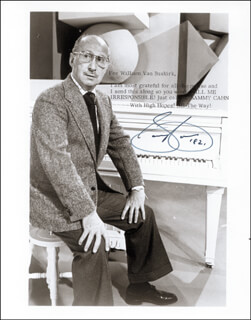 SAMMY CAHN - AUTOGRAPHED INSCRIBED PHOTOGRAPH 1982