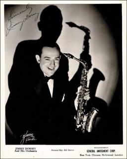 JIMMY DORSEY - AUTOGRAPHED SIGNED PHOTOGRAPH
