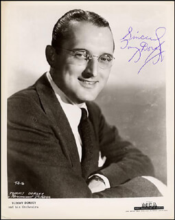 TOMMY DORSEY - AUTOGRAPHED SIGNED PHOTOGRAPH