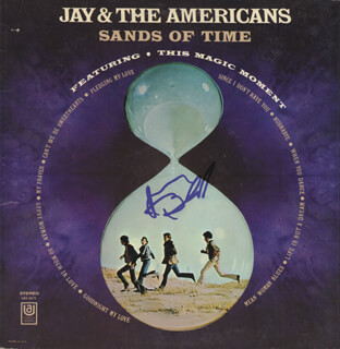 JAY AND THE AMERICANS (JAY BLACK) - RECORD ALBUM COVER SIGNED