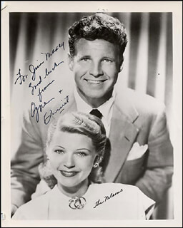OZZIE NELSON - AUTOGRAPHED INSCRIBED PHOTOGRAPH CO-SIGNED BY: HARRIET HILLIARD NELSON
