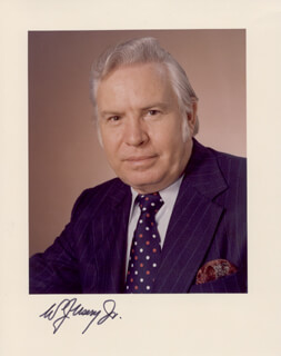 Autographs: W. J. USERY JR. - PHOTOGRAPH SIGNED
