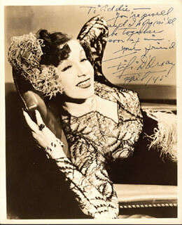 FIFI D'ORSAY - AUTOGRAPHED INSCRIBED PHOTOGRAPH 4/1945