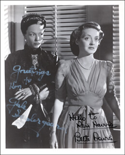 LETTER MOVIE CAST - AUTOGRAPHED SIGNED PHOTOGRAPH CO-SIGNED BY: GALE SONDERGAARD, BETTE DAVIS