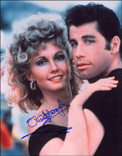 GREASE MOVIE CAST - AUTOGRAPHED SIGNED PHOTOGRAPH CO-SIGNED BY: JOHN TRAVOLTA, OLIVIA NEWTON-JOHN