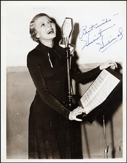 HARRIET HILLIARD NELSON - AUTOGRAPHED SIGNED PHOTOGRAPH
