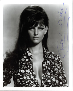 CLAUDIA CARDINALE - AUTOGRAPHED SIGNED PHOTOGRAPH 1989