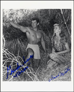 GORDON SCOTT - AUTOGRAPHED SIGNED PHOTOGRAPH CO-SIGNED BY: IRISH McCALLA