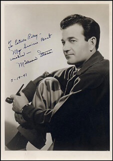 MILBURN STONE - AUTOGRAPHED SIGNED PHOTOGRAPH 05/14/1941