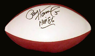 PAUL V. HORNUNG - FOOTBALL SIGNED