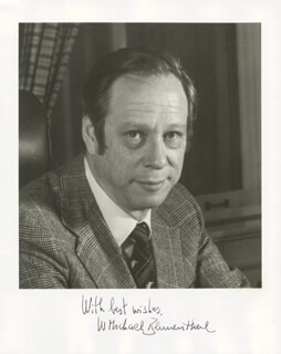 Autographs: W. MICHAEL BLUMENTHAL - PHOTOGRAPH SIGNED