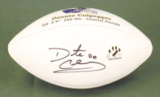 DAUNTE CULPEPPER - FOOTBALL SIGNED