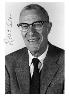 ROBERT M. SOLOW - AUTOGRAPHED SIGNED PHOTOGRAPH