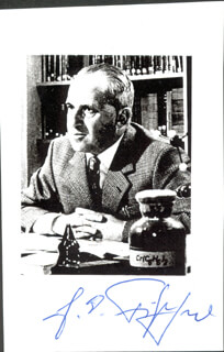 Autographs: ERNST OTTO FISCHER - PRINTED PHOTOGRAPH SIGNED IN INK