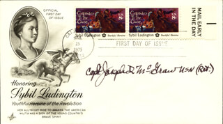 CAPTAIN JOSEPH D. MCGRAW - FIRST DAY COVER SIGNED