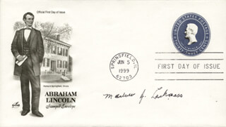 MARLOW J. LEIKNESS - FIRST DAY COVER SIGNED