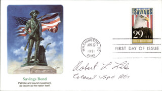 ROBERT L. LILES - FIRST DAY COVER SIGNED