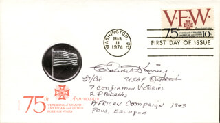 CLAUDE KINSEY JR. - FIRST DAY COVER SIGNED