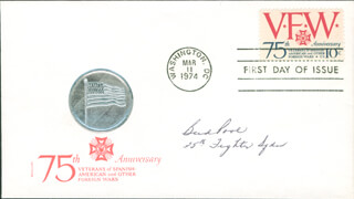 BUD (KENNETH REED POOL) POOL - FIRST DAY COVER SIGNED