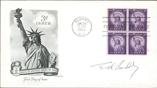 EDWARD RODDY - FIRST DAY COVER SIGNED