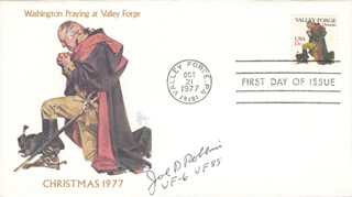 LT. COMMANDER JOE DRAPER ROBBINS - FIRST DAY COVER SIGNED