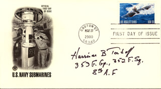 HARRISON B. TORDOFF - FIRST DAY COVER SIGNED