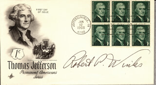 LT. ROBERT P. WINKS - FIRST DAY COVER SIGNED