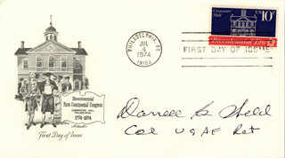 COLONEL DARRELL G. WELCH - FIRST DAY COVER SIGNED
