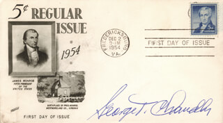 MAJOR GEORGE T. CHANDLER - FIRST DAY COVER SIGNED