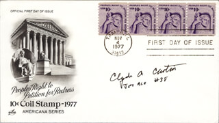 MAJOR CLYDE A. CURTIN - FIRST DAY COVER SIGNED