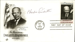 CHARLIE FISCHETTE - FIRST DAY COVER SIGNED